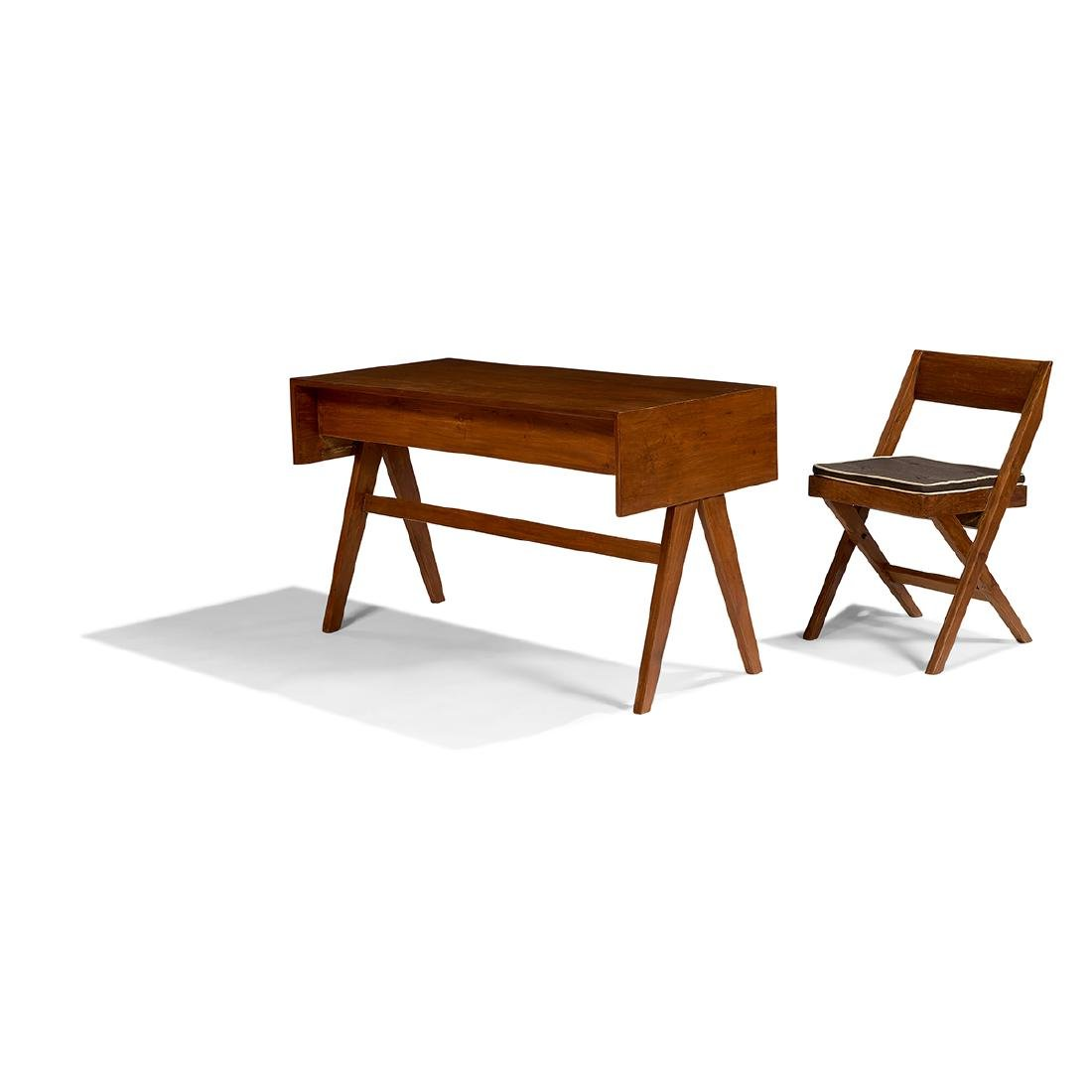 Pierre Jeanneret Student desk and Library chair