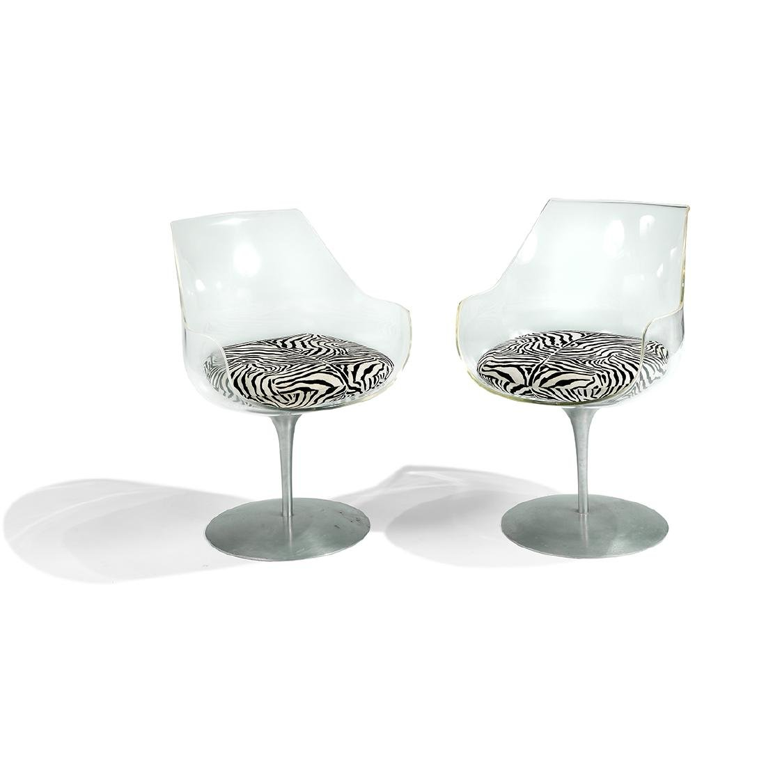 Erwine & Estelle Laverne Champagne chairs, pair