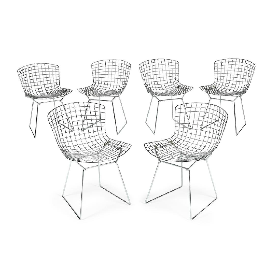 Harry Bertoia for Knoll Bertoia Side Chair, six