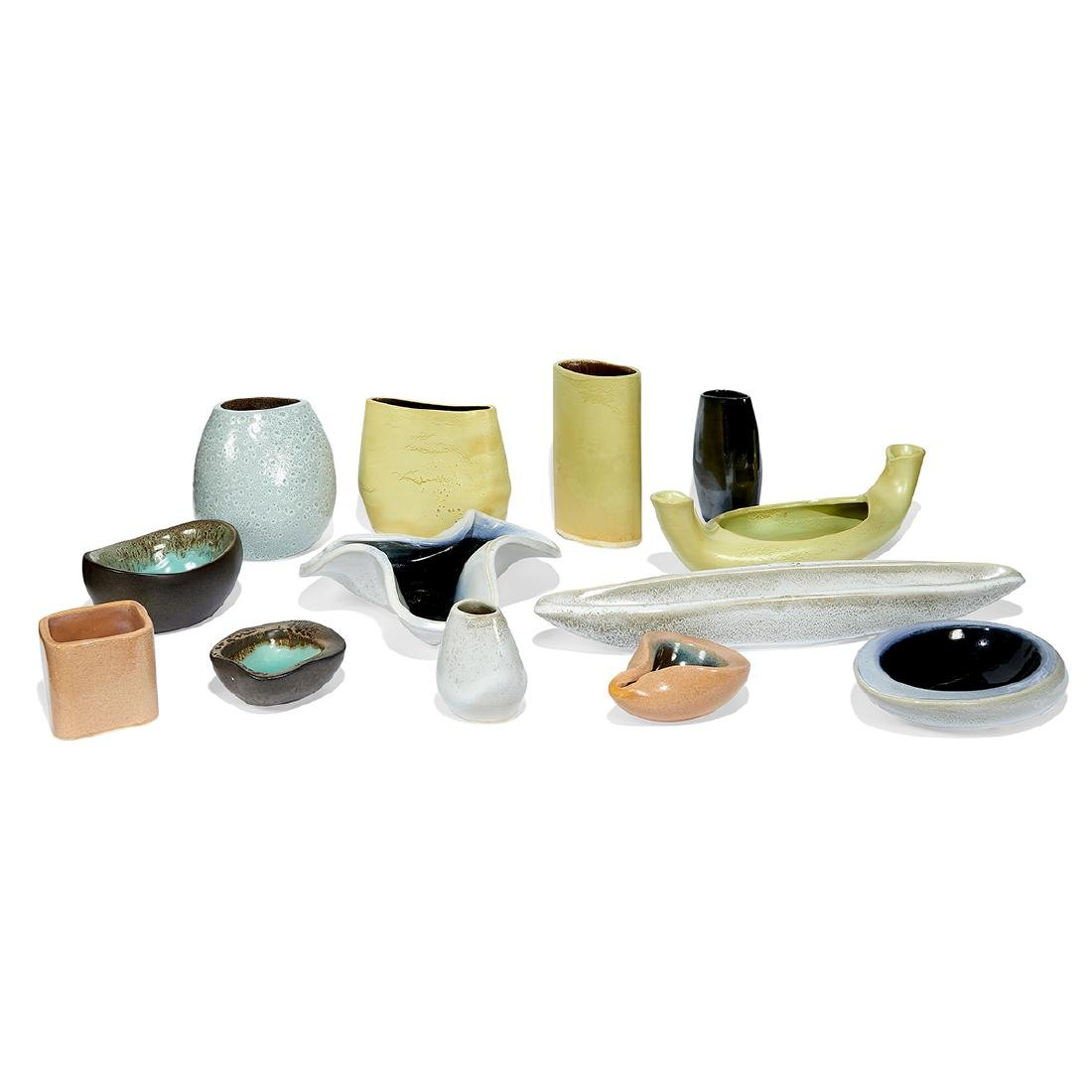 Russel Wright for Bauer collection of 13 vessels