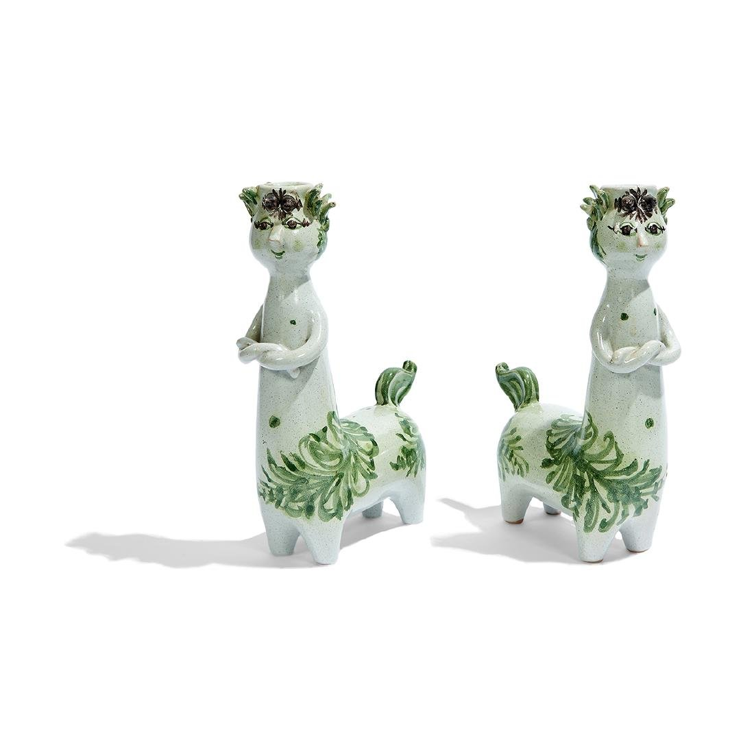 Bjorn Wiinblad Centaur candlesticks, pair