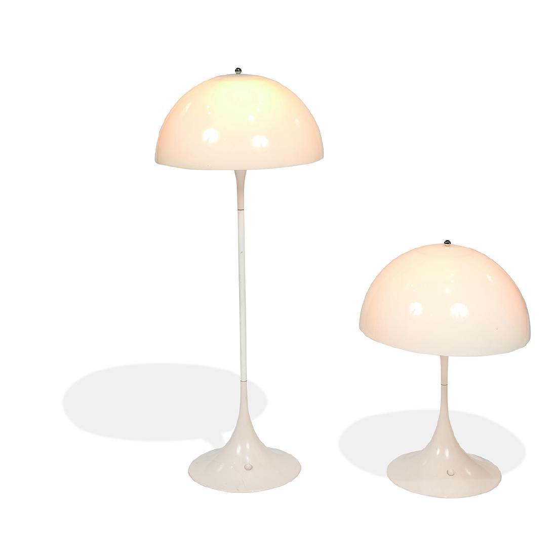 Verner Panton / L. Poulsen 'Panthella' lamps, two