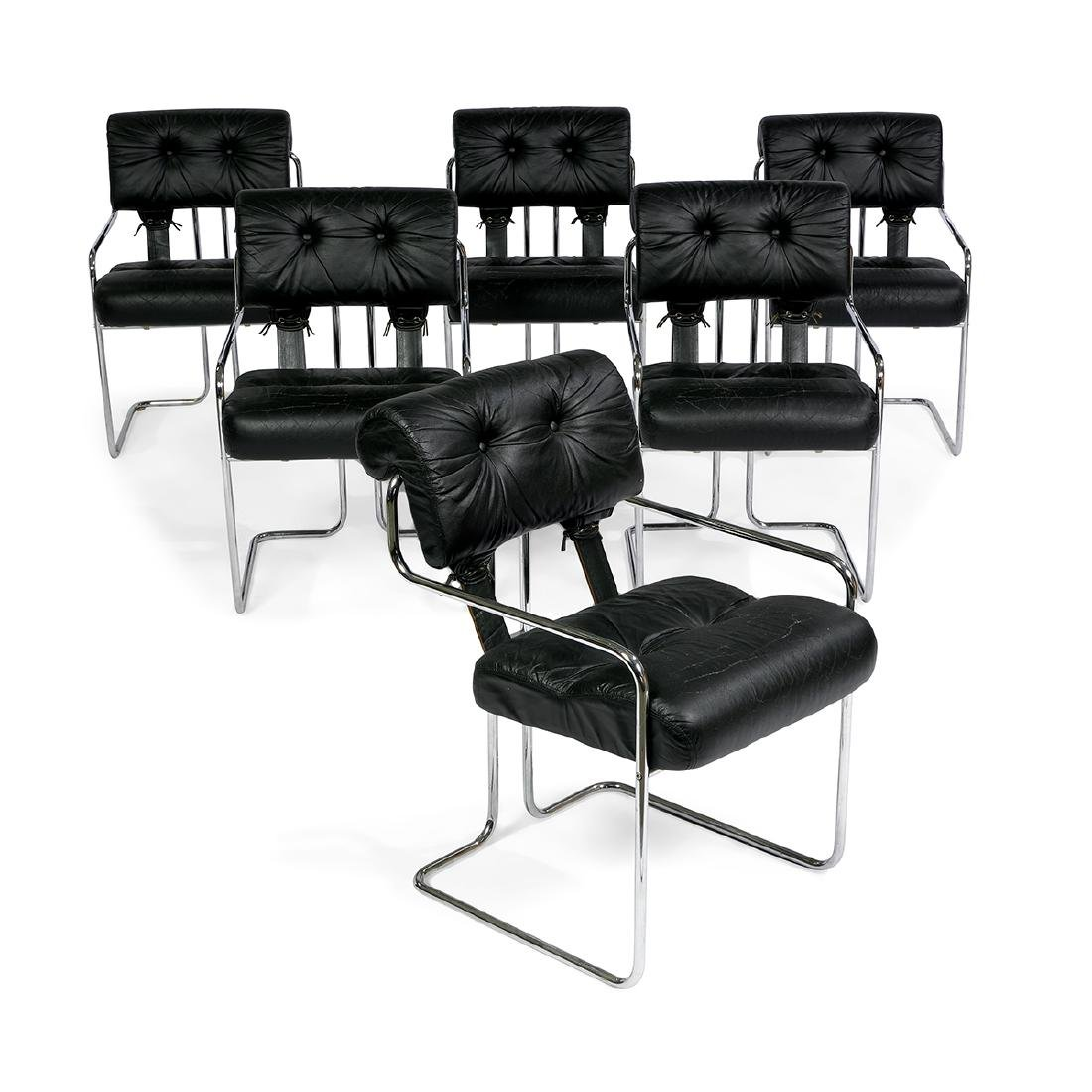 Guido Faleschini for Pace Tucroma chairs, six