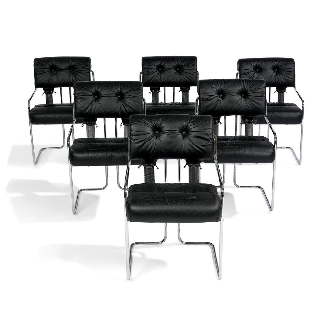 Guido Faleschini for Pace Tucroma chairs, six - 2