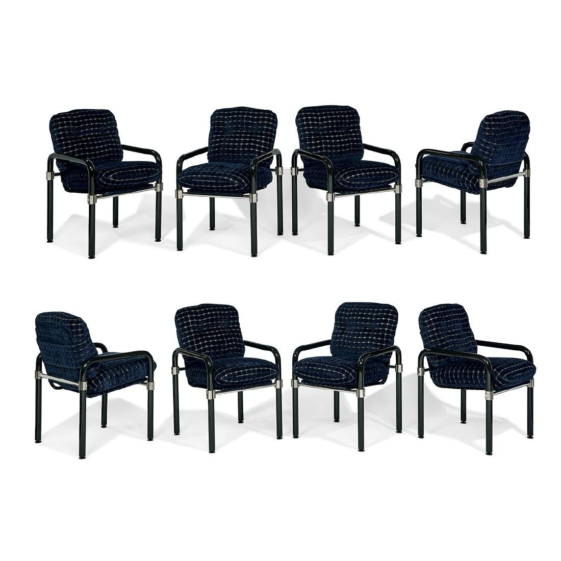 Jeff Messerschmidt Pipe Line dining chairs, eight