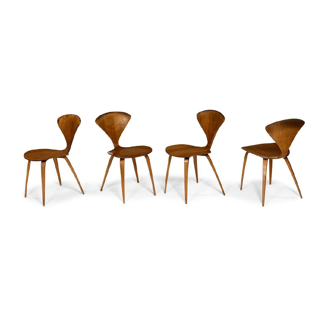 Norman Cherner for Plycraft dining chairs, four