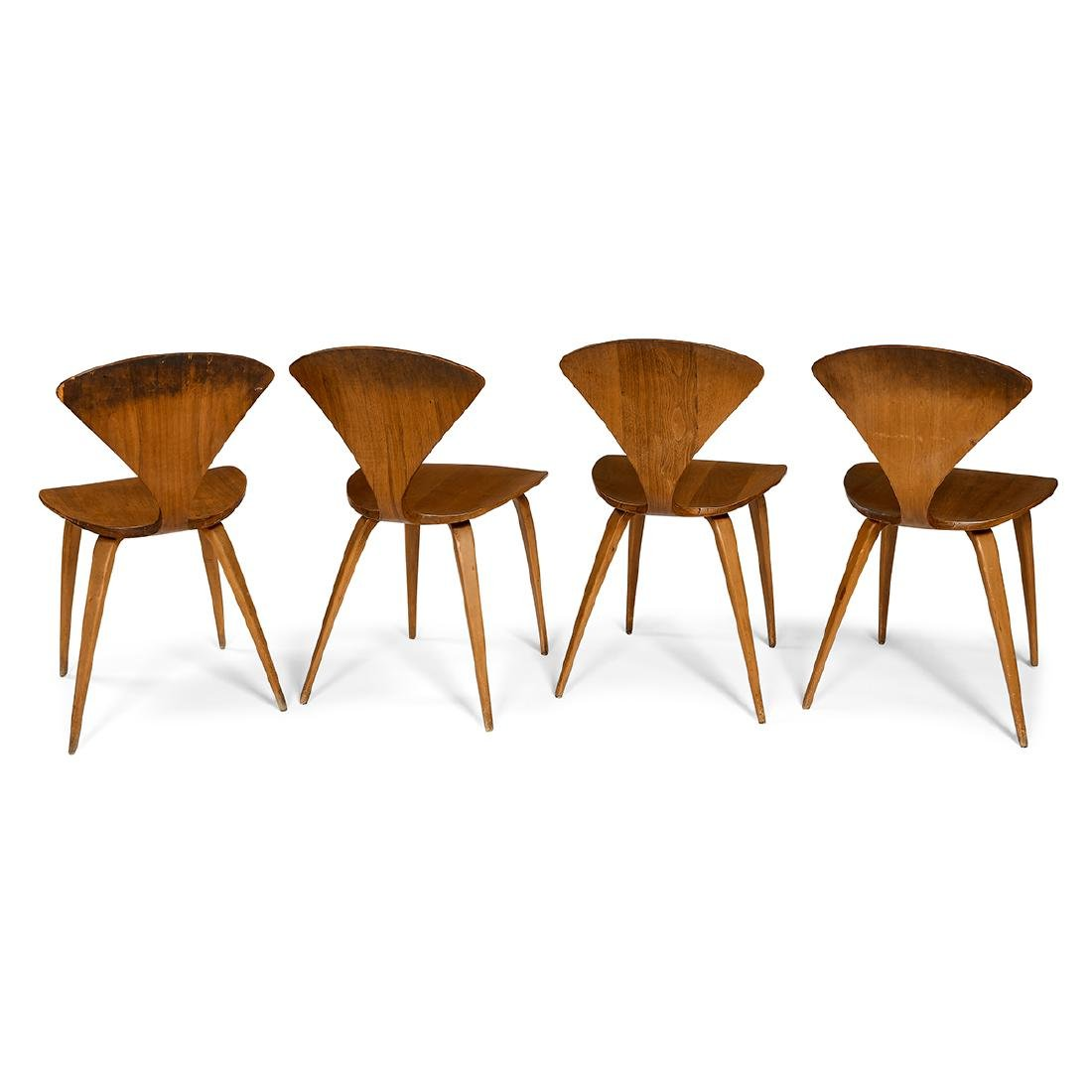 Norman Cherner for Plycraft dining chairs, four - 2