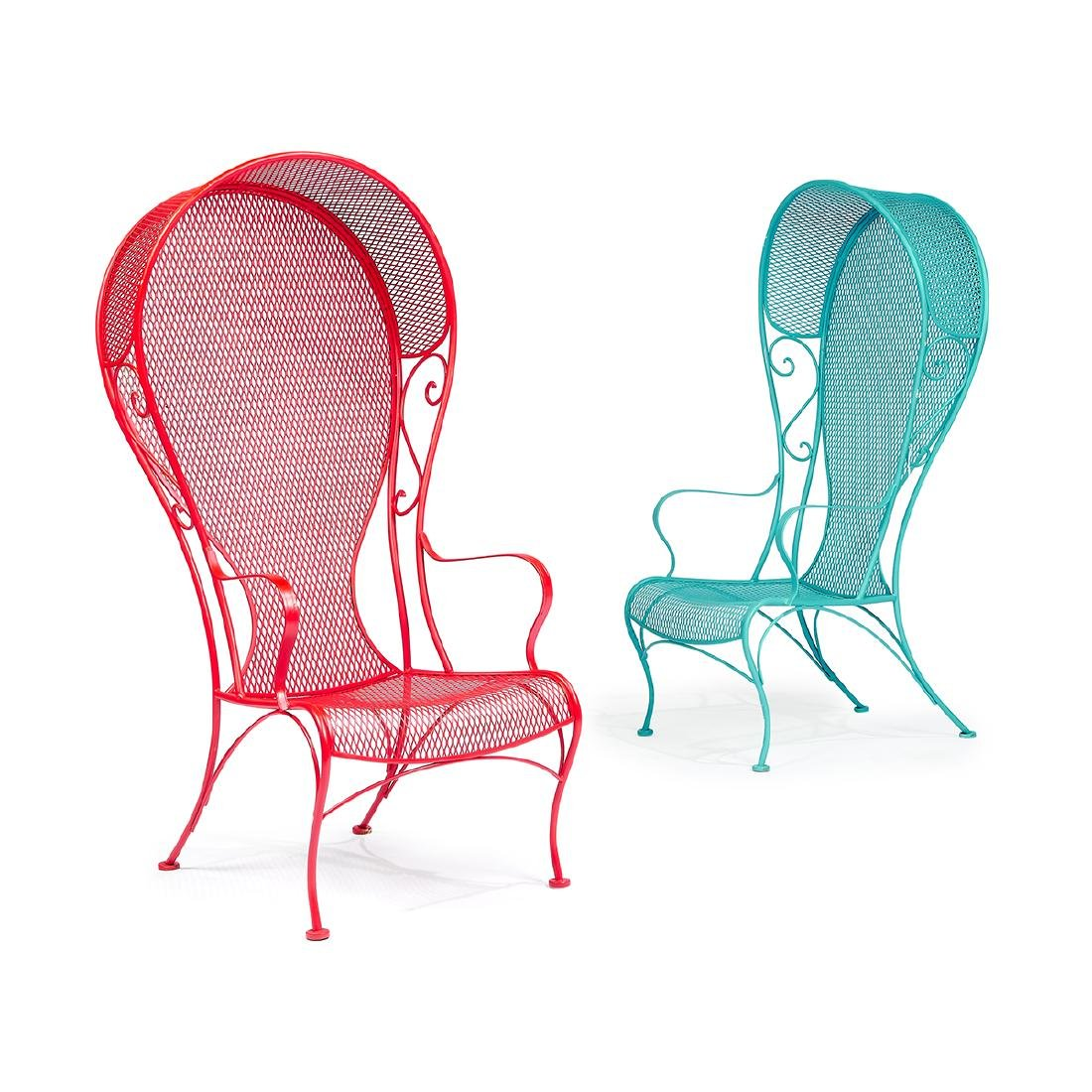 Woodard Furniture Co. Canopy chairs, two