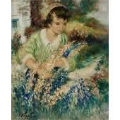 Pierre Eugène Duteurtre, Jeune Fille au Jardin