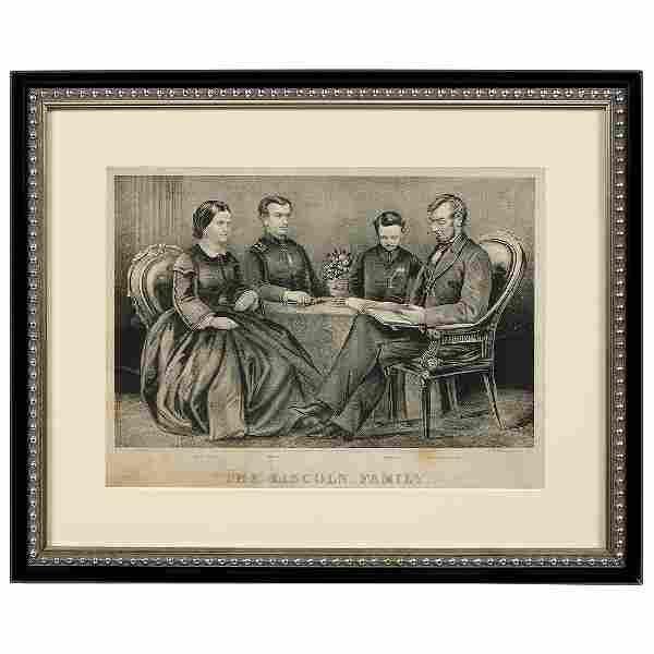 Abraham Lincoln, Family Lithograph and Engraving