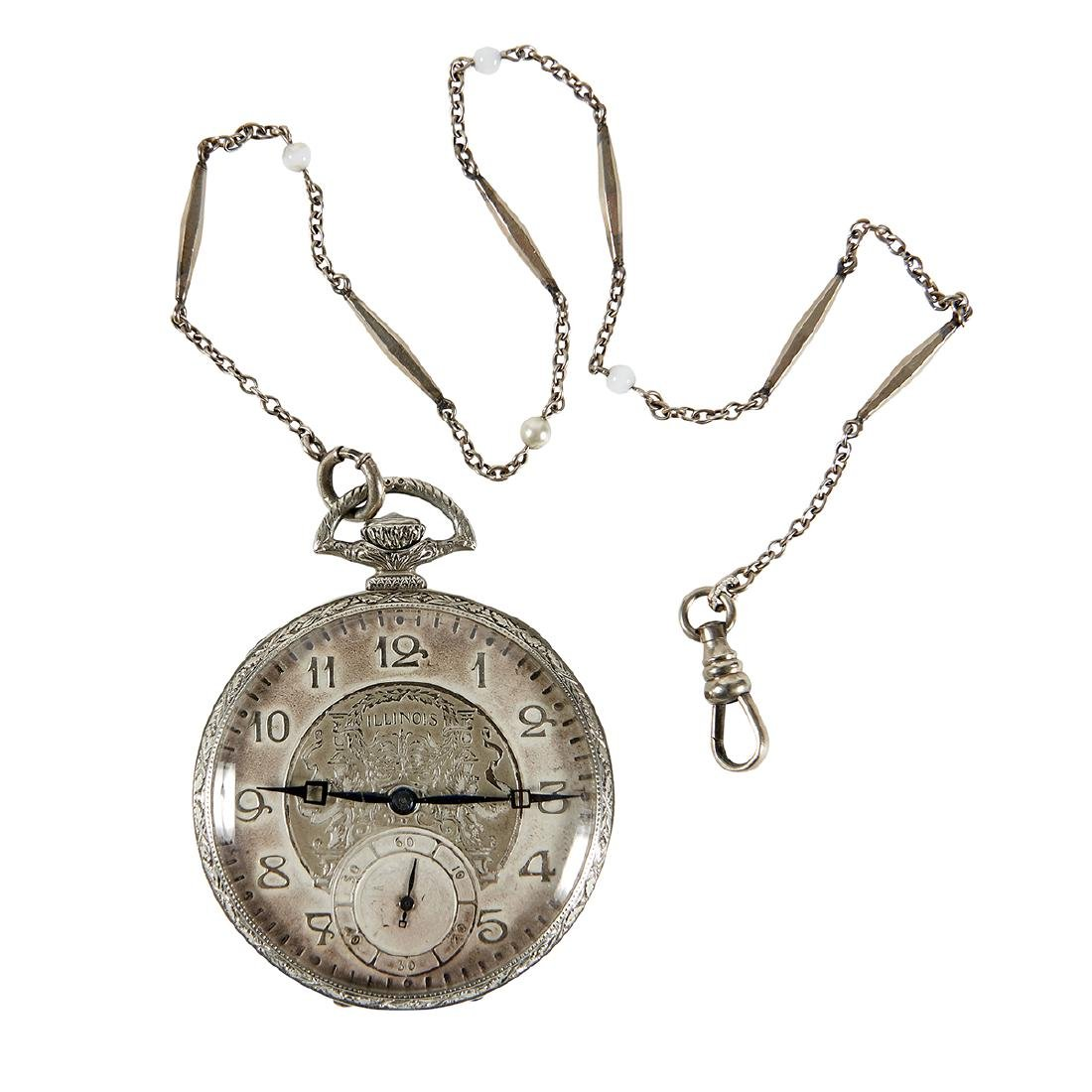 Illinois Watch Company, A. Lincoln Pocket Watch - 2