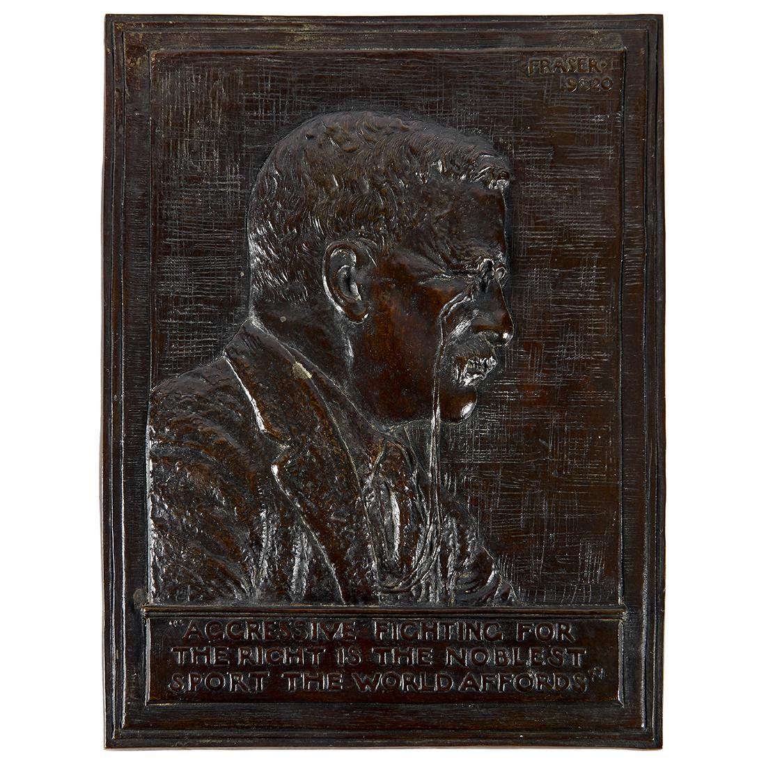 James Earle Fraser, Roosevelt Bas Relief Plaque