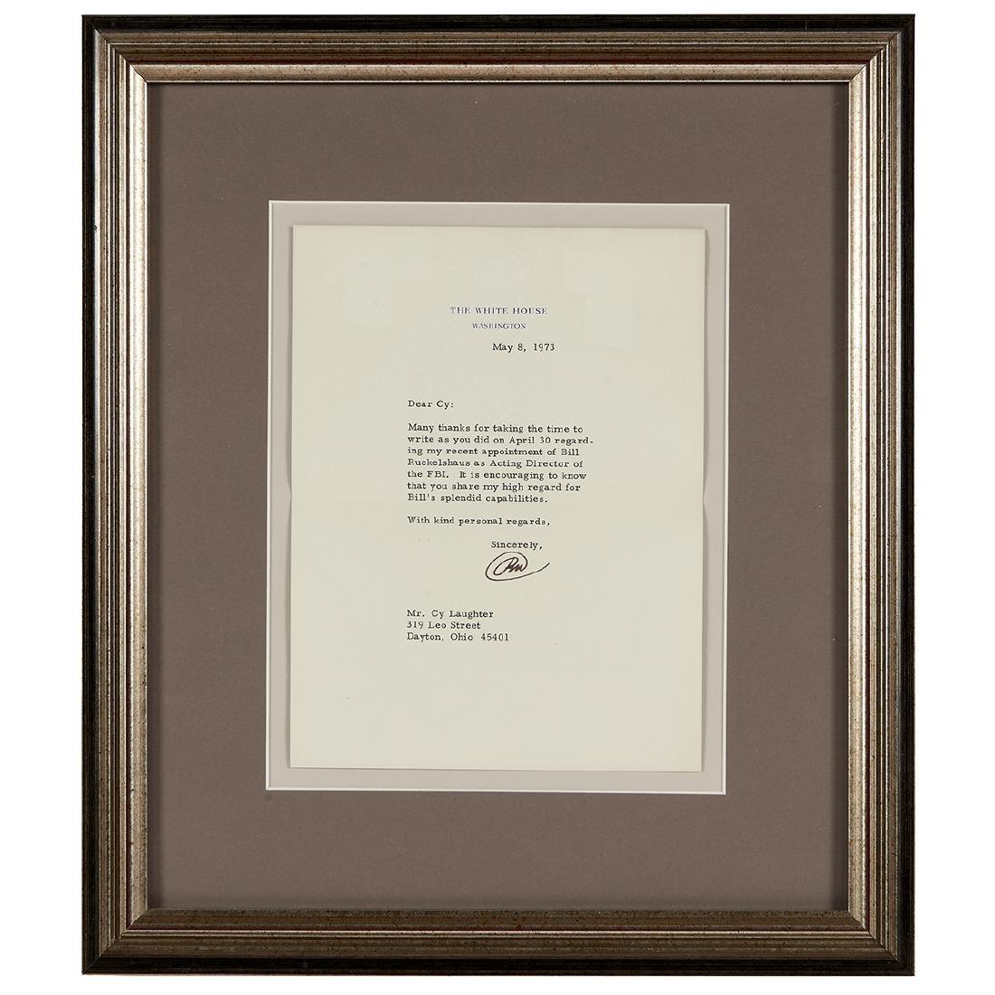 Richard Nixon, (5) Signed Letters