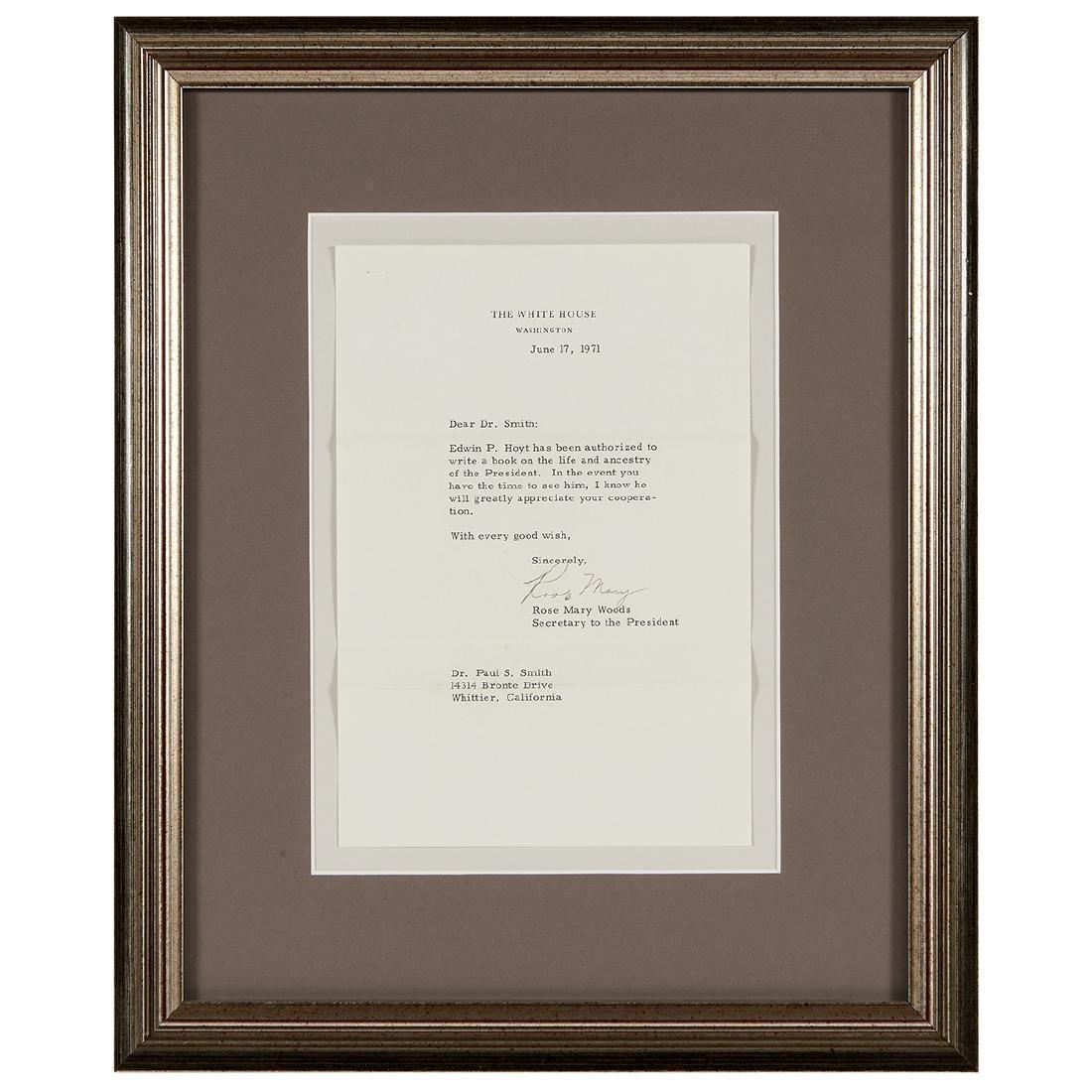Richard Nixon, (5) Signed Letters - 2