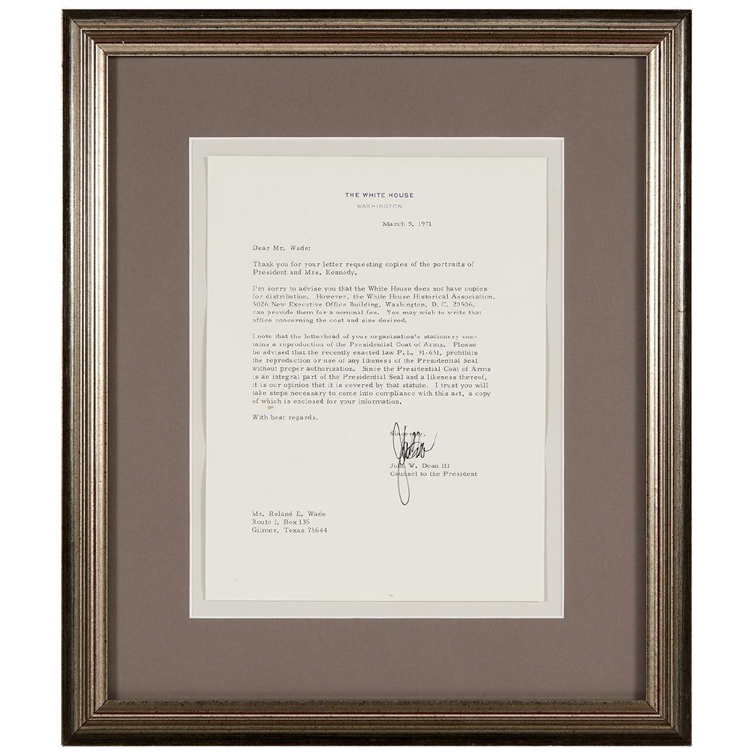 Richard Nixon, (5) Signed Letters - 4