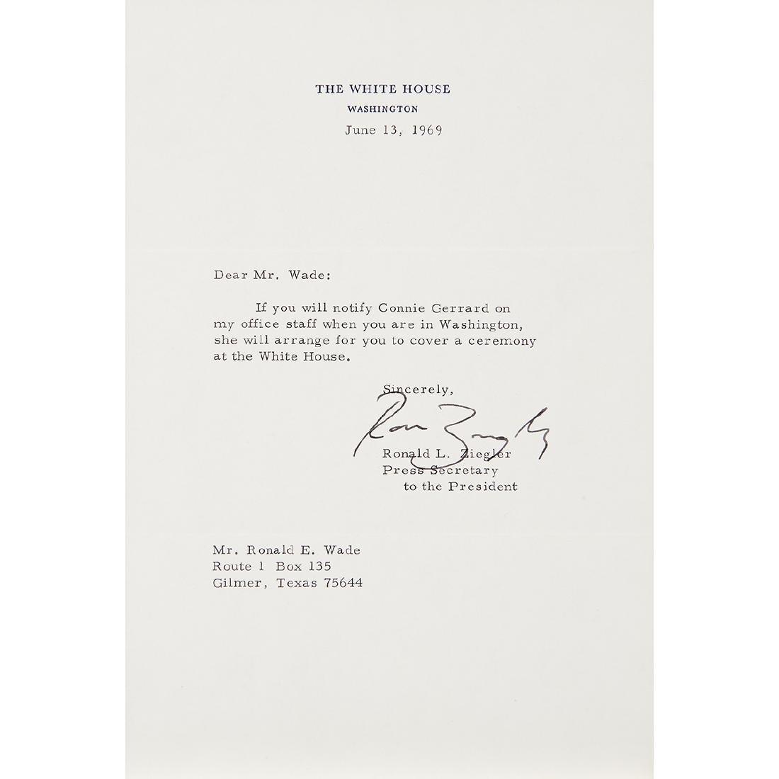 Richard Nixon, (5) Signed Letters - 5