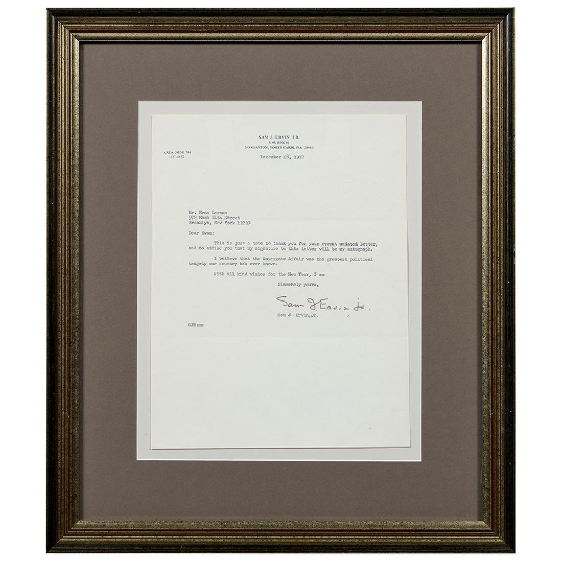 Watergate, (3) Signed Letters and (4) Photographs - 6