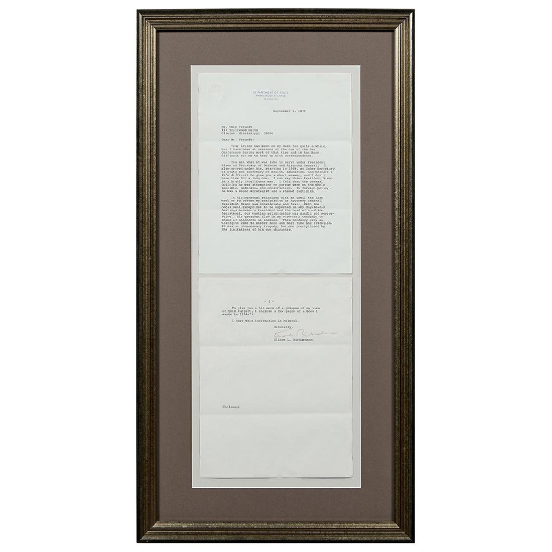 Watergate, (3) Signed Letters and (4) Photographs - 7