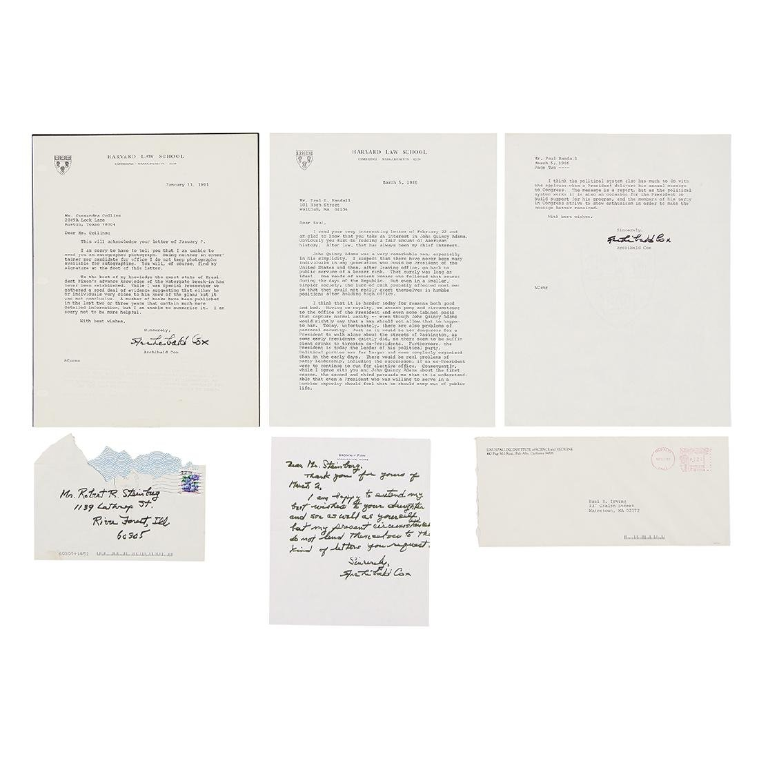 Archibald Cox / Watergate, Group of (5) Articles