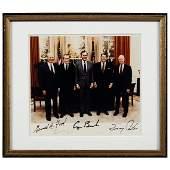 Ford Nixon Bush Reagan  Carter Signed Photo