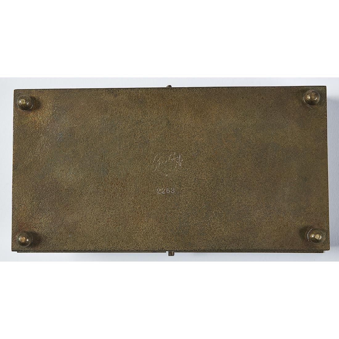 Smith Metal Arts Co. Silver Crest line desk set - 7