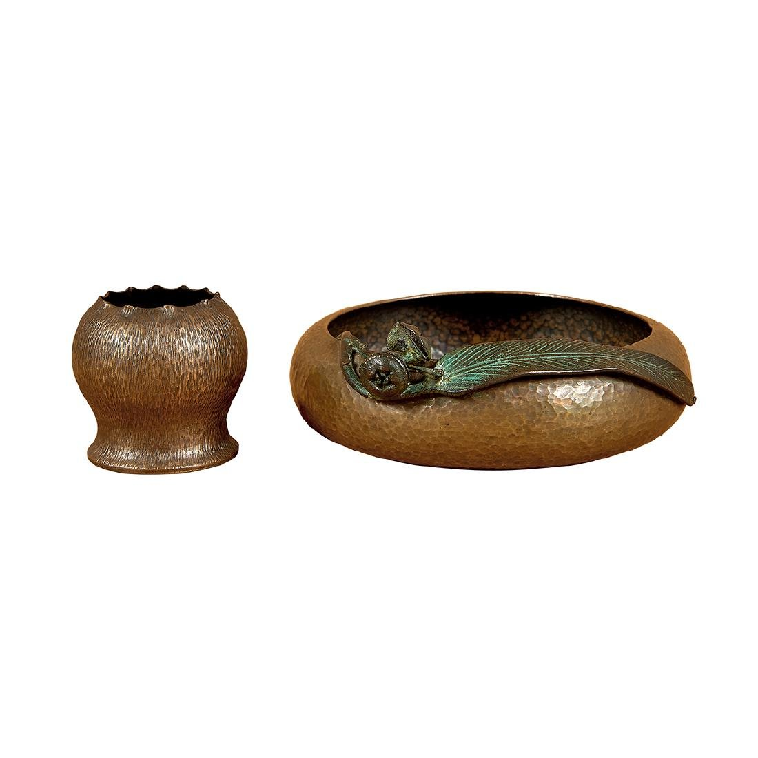 Brosi Ye Olde Copper Shoppe bowl, match holder