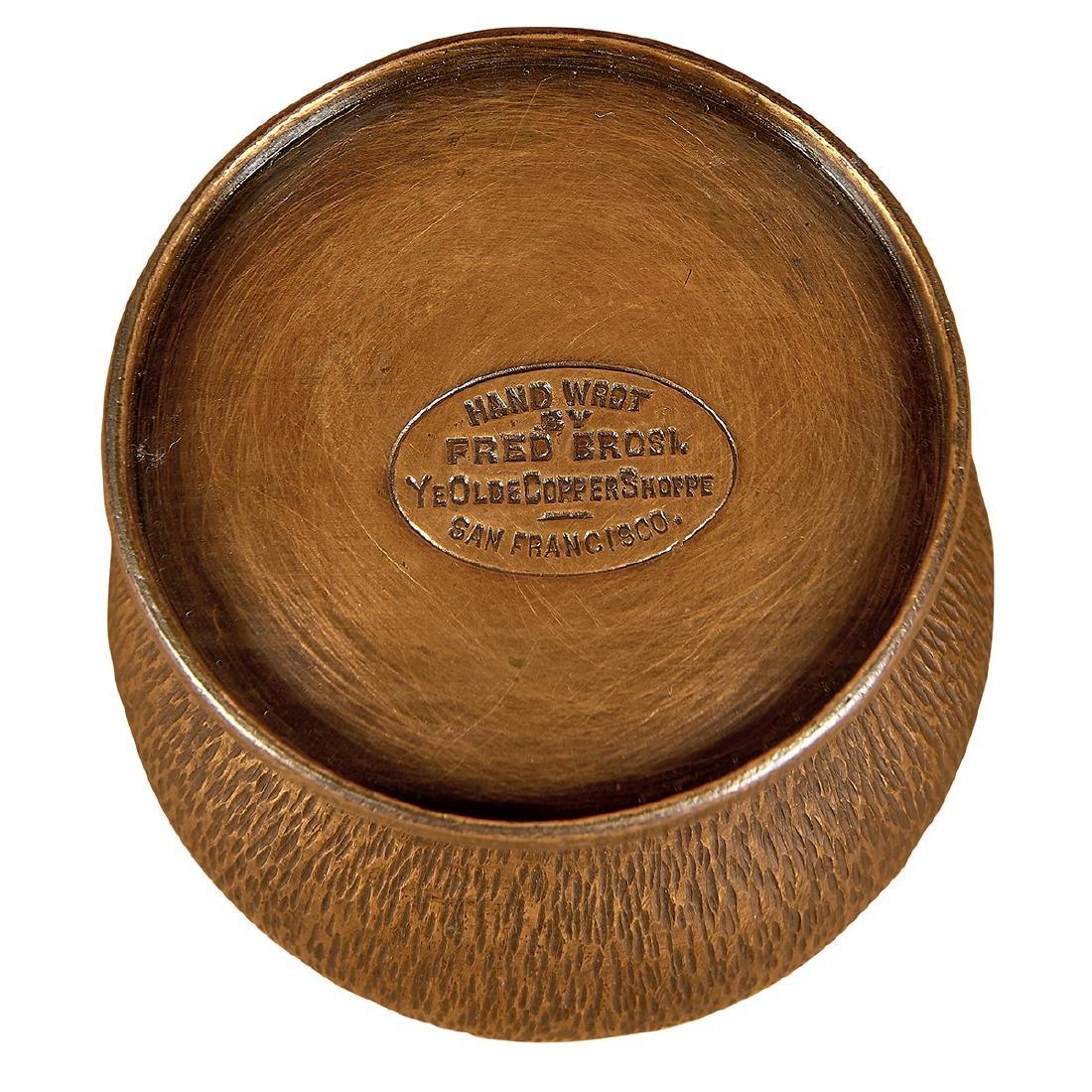 Brosi Ye Olde Copper Shoppe bowl, match holder - 2