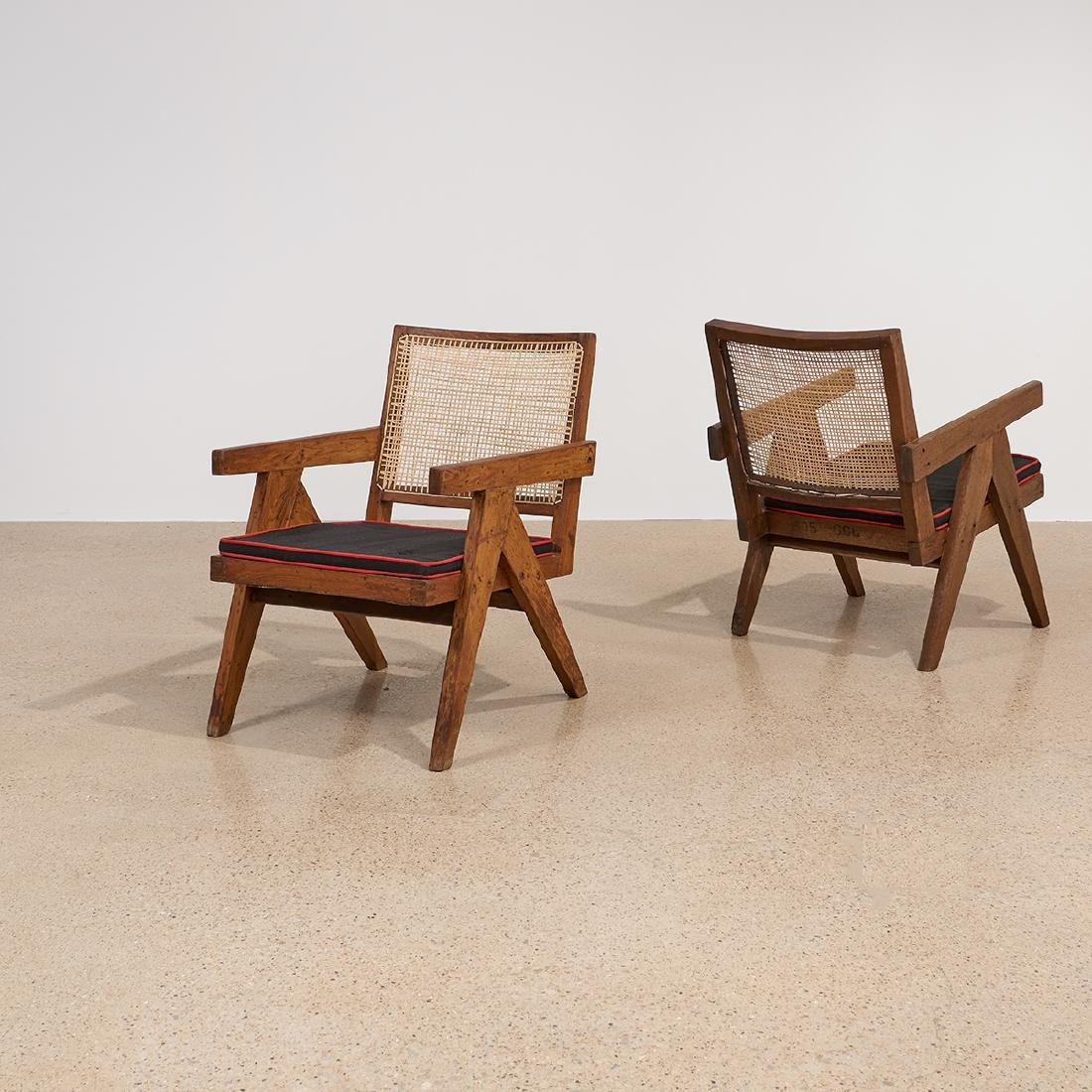 Pierre Jeanneret Low Lounge Chairs, pair - 3