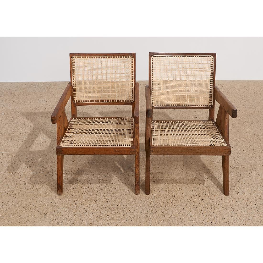 Pierre Jeanneret Low Lounge Chairs, pair - 5