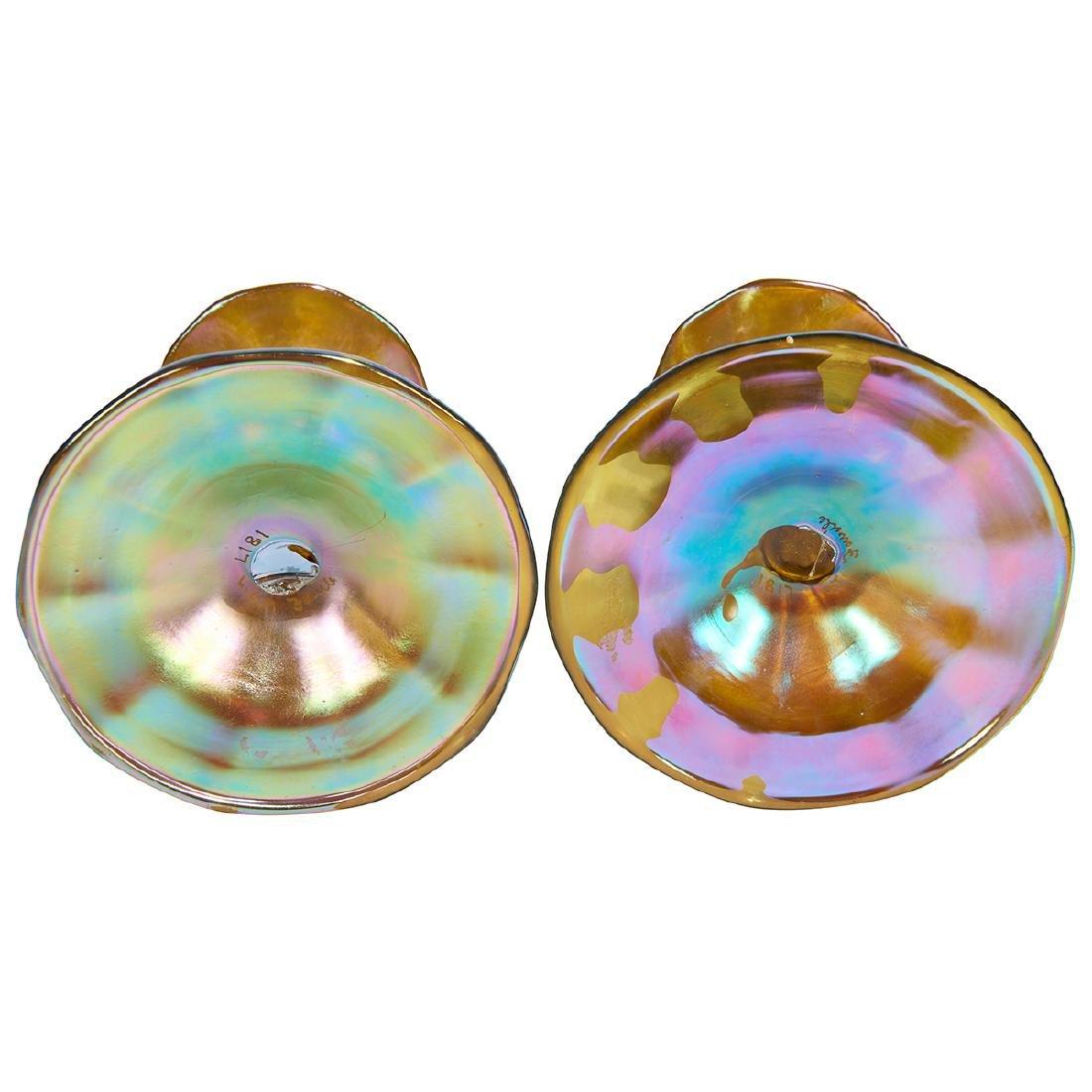 L.C. Tiffany Favrile candlesticks, pair - 2
