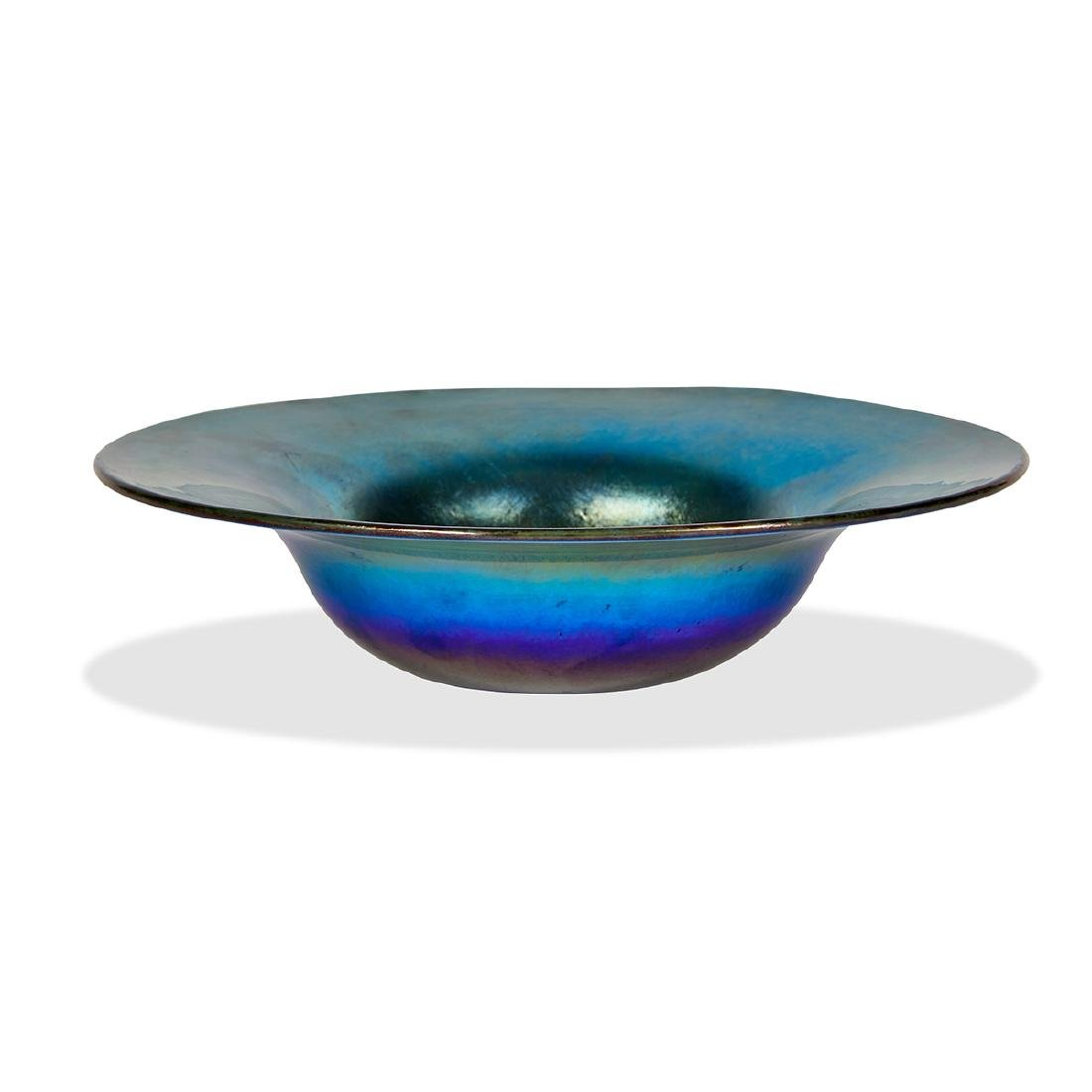 L.C. Tiffany Favrile bowl with flared rim, #X102