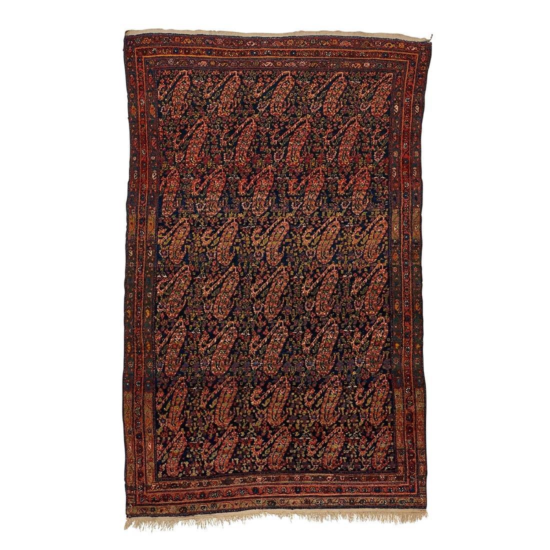 Antique Persian Senneh wool area rug