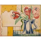 Françoise Gilot, Poires/Fleurs (two works)