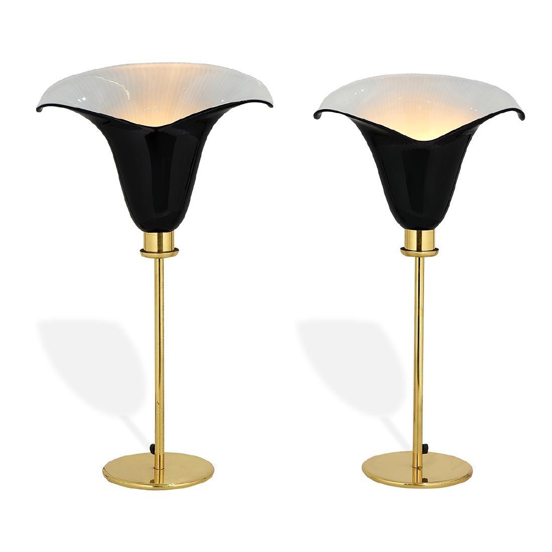 Murano lamps, pair