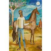 Fred Jones Man with Horse
