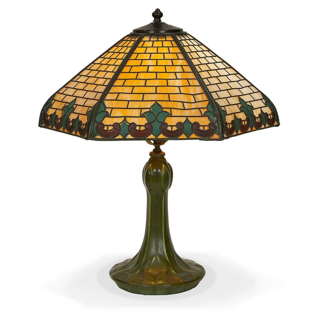 Hampshire Pottery and Handel lamp
