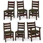 Gustav Stickley chairs, #349, set of six