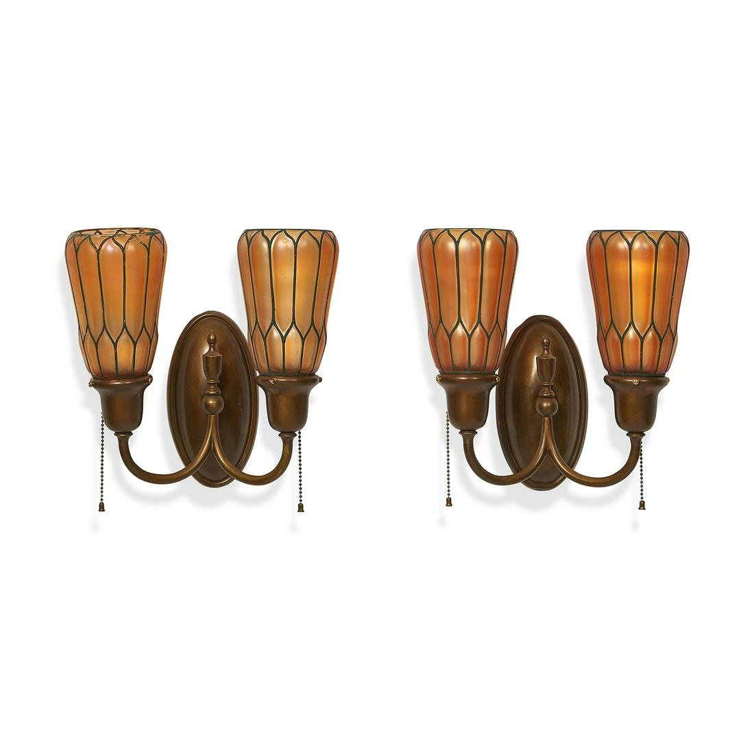 The Handel Lamp Company wall sconces, pair