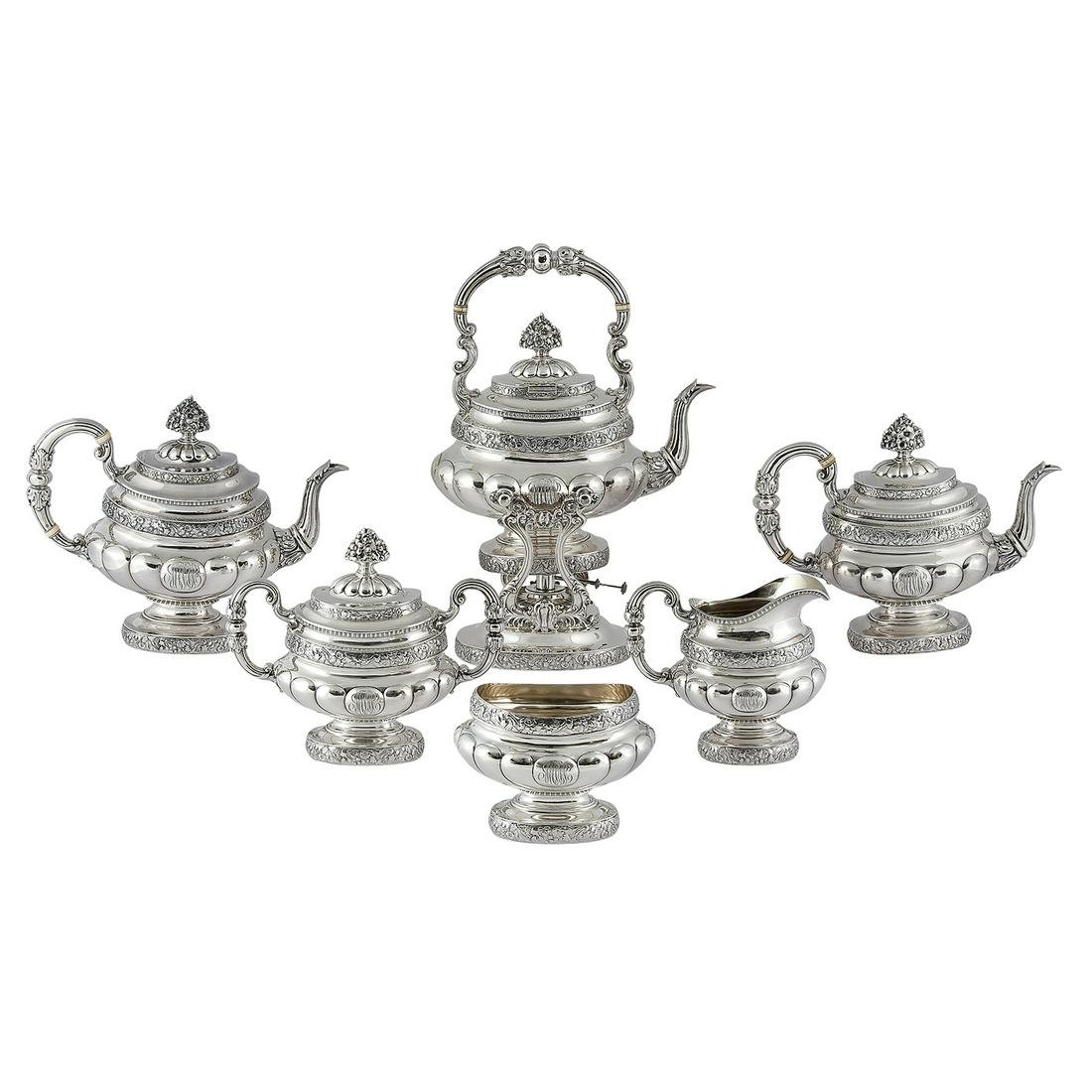 Reed & Barton six-piece tea/coffee service, #610