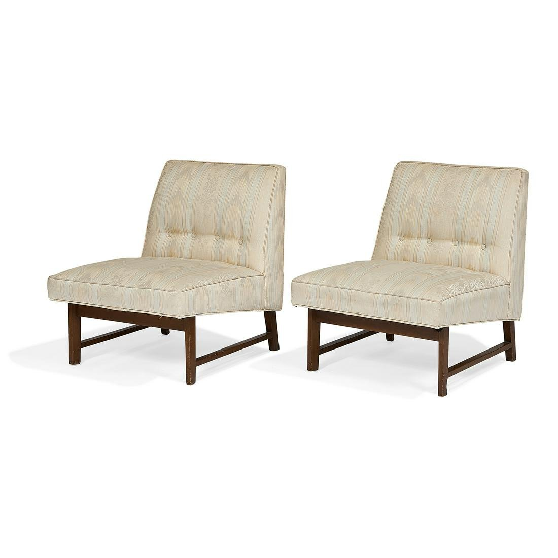 Edward Wormley for Dunbar Slipper chairs, pair