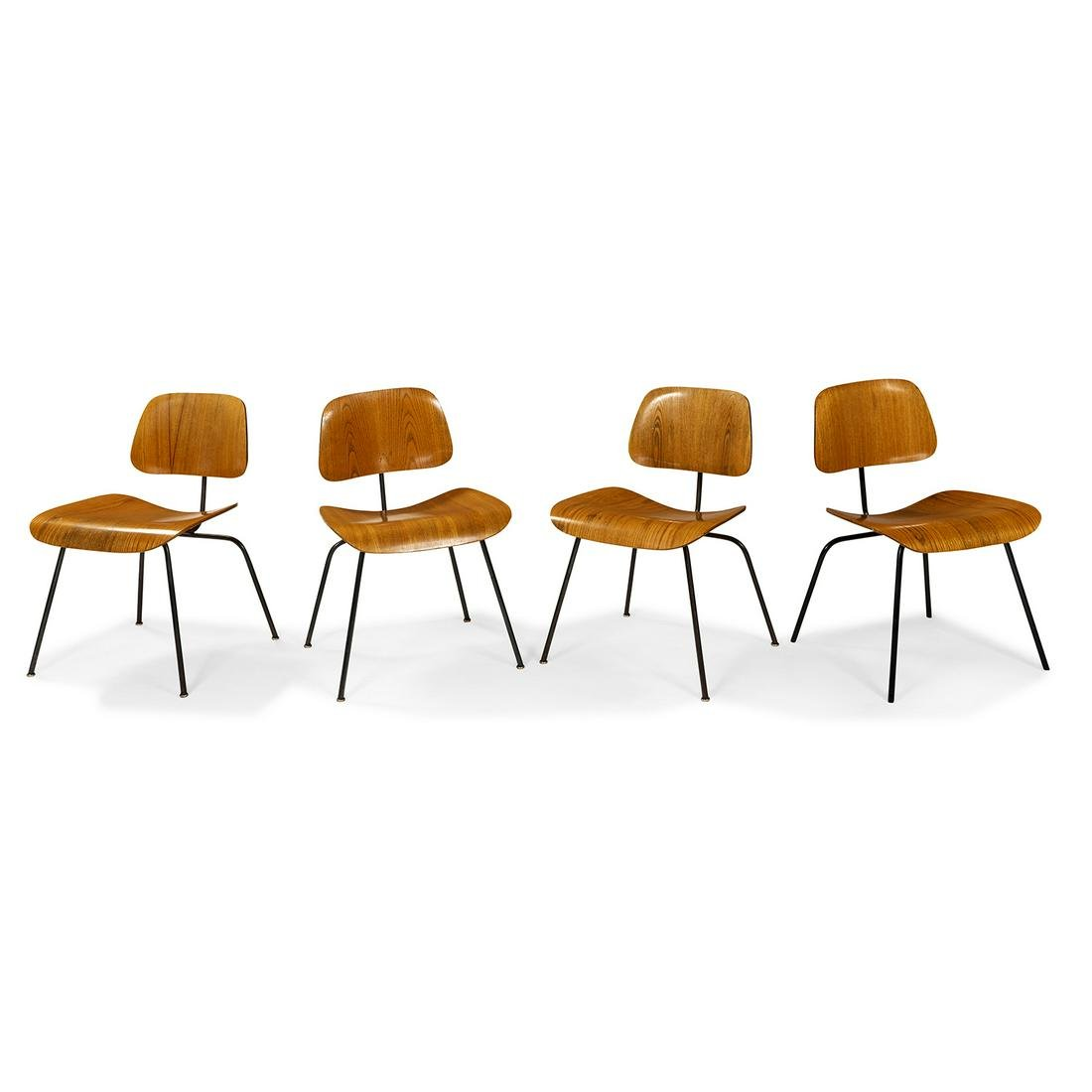Eames for Herman Miller DCM chairs, four