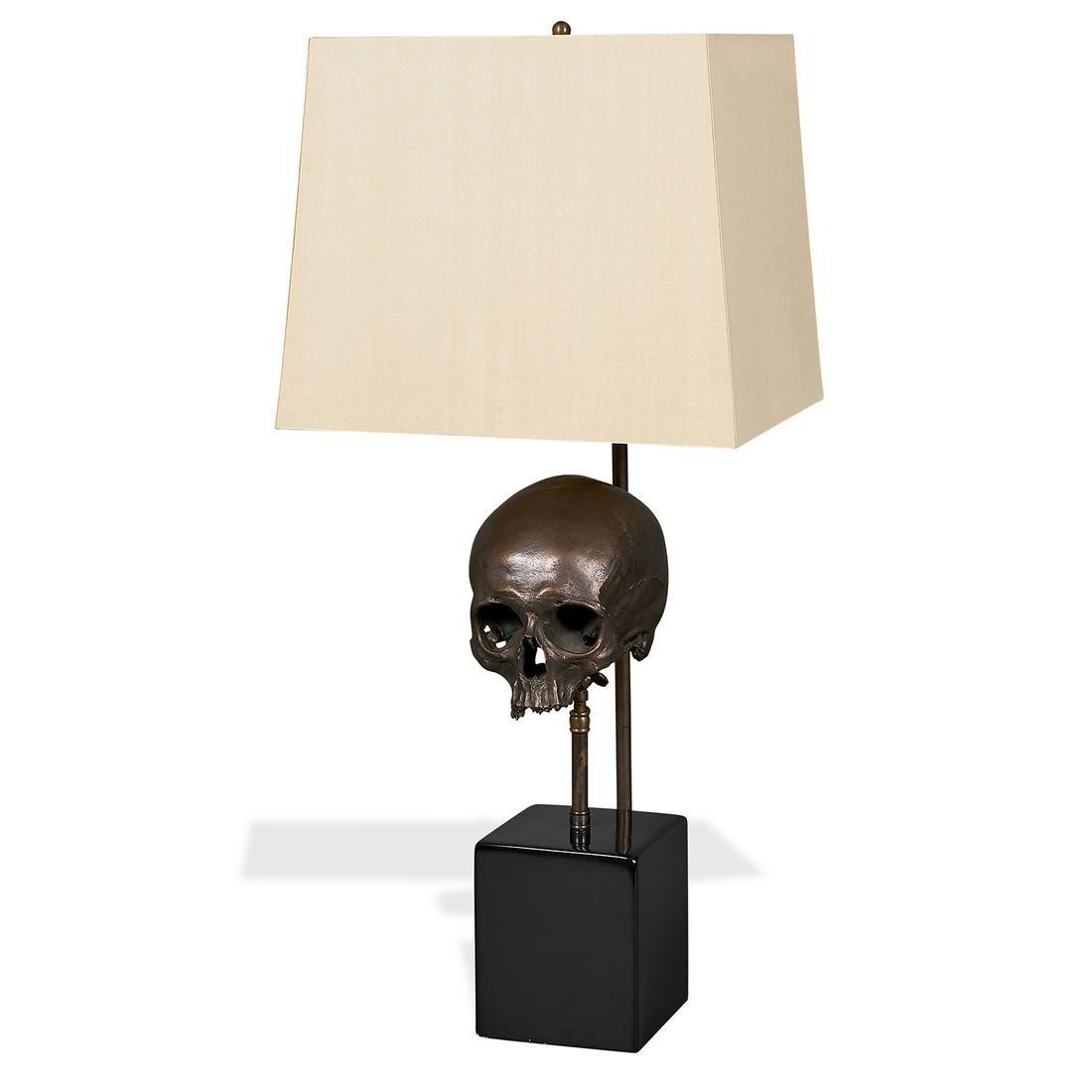 Blackman Cruz Workshop Skull table lamp