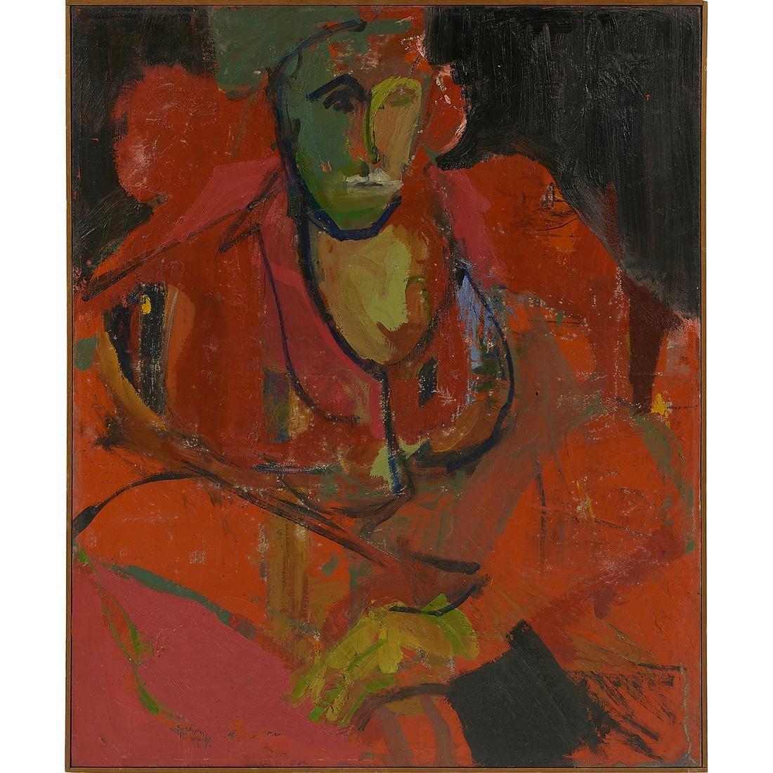 Charles Senseman, Figure, oil on canvas