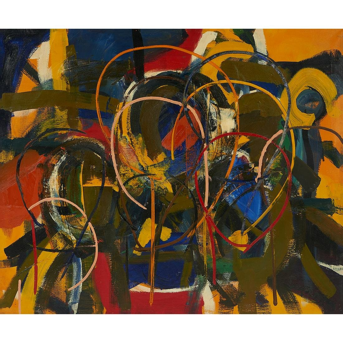 Charles Senseman, Untitled Abstraction, oil on canvas