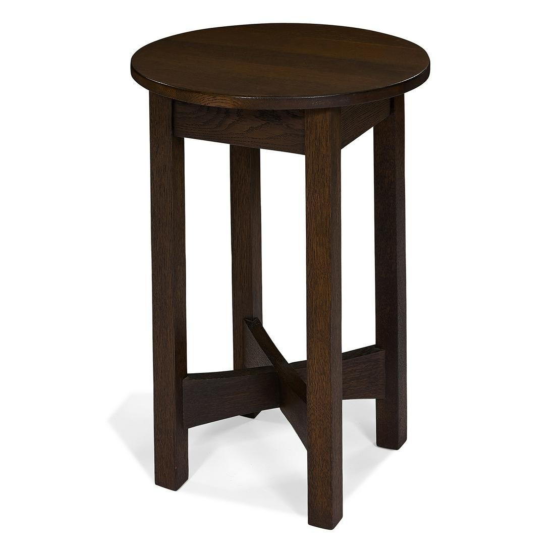 American Arts & Crafts drink stand with round top