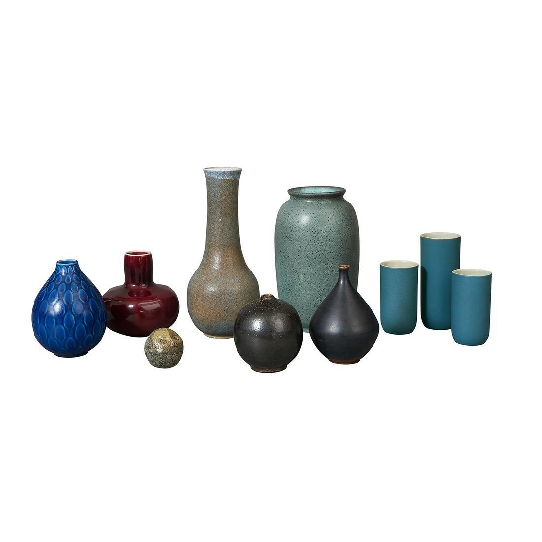 Scandinavian pottery, group of ten