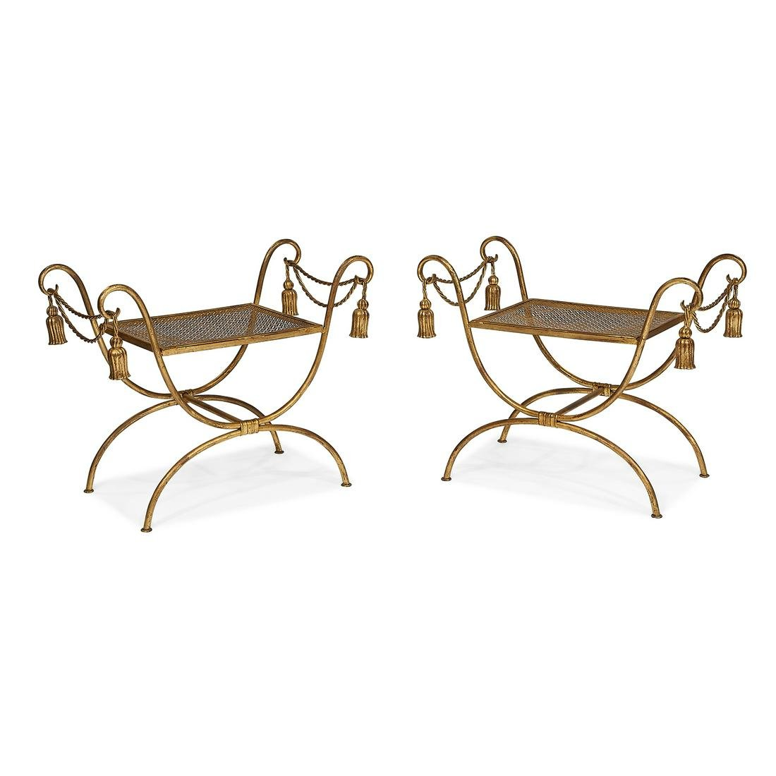 Italian benches, pair
