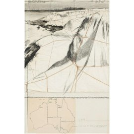 Christo & Jeanne-Claude, Packed Coast, 1969, collage