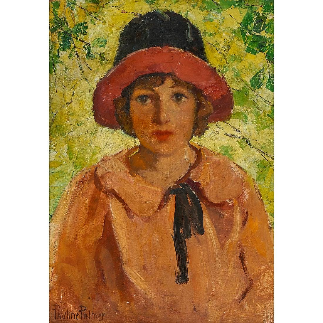 Pauline Palmer, Woman in a Hat, oil on canvas