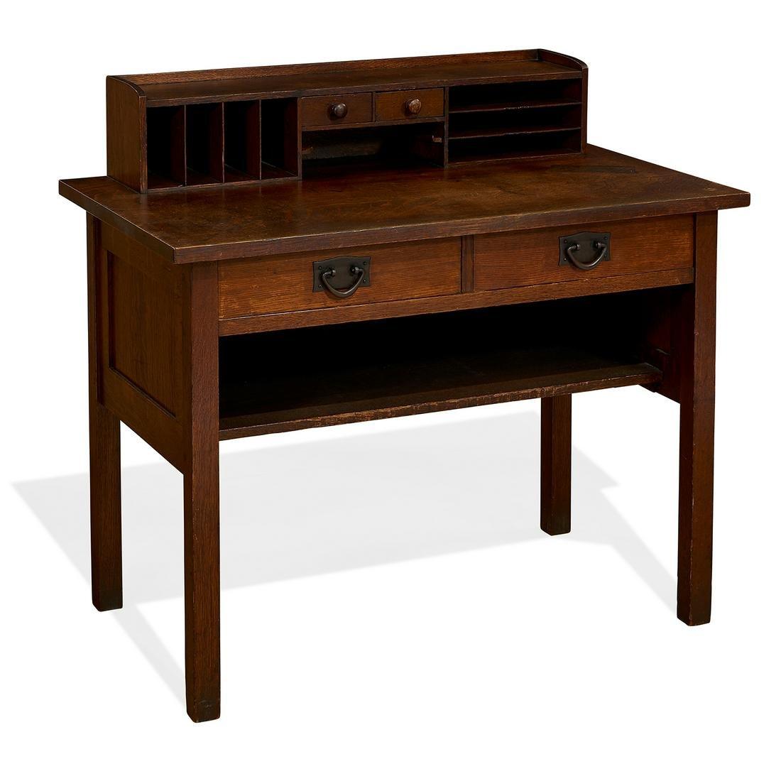 Gustav Stickley desk, #720
